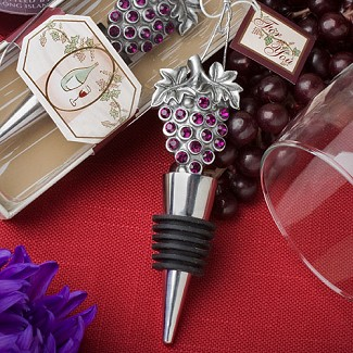 """Vineyard Collection"" Wine Bottle Stopper Favors"