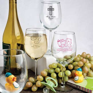 Personalized 12 oz. Wine Goblet Baby Shower Favors