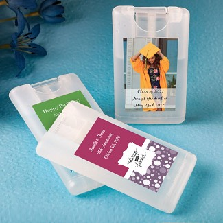 Personalized Credit Card Press and Spray Hand Sanitizer Party Favors