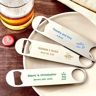 Design Your Own Collection Screen Printed 7 Inch Stainless Steel Bartenders Bottle Opener