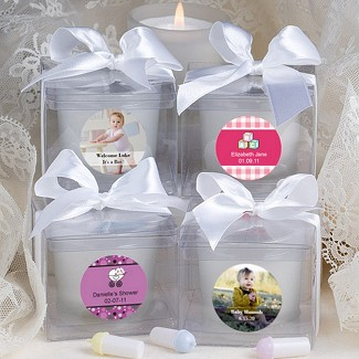 """Personalized Expressions Collection"" Candle Baby Shower Favors"