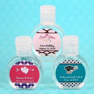 Personalized Expressions Hand Sanitizer Party Favors (62% Alcohol, 60 ml Size)