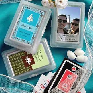 """Personalized Expressions"" Playing Card Favors"