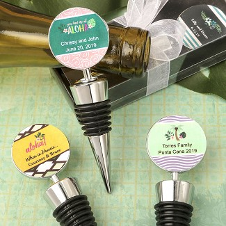 Personalized Expressions Collection Wine Bottle Stopper Favors - Tropical Design