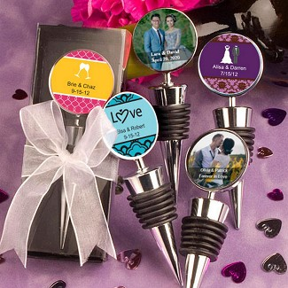"""Personalized Expressions Collection"" Wine Bottle Stopper Favors"