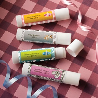 """Personalized Expressions Collection"" Lip Balm Baby Shower Favors"