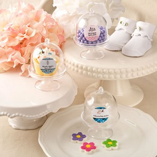 Personalized Medium Size Cake Stand For Treats and Cup Cakes Baby Shower Favors