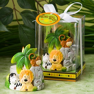 """Jungle Critters Collection"" Candle Favors"