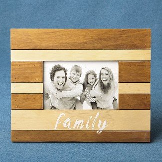 Wood Two Tone Frame - Family