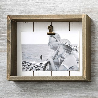 Wood Box Frame with Clip 6 x 4