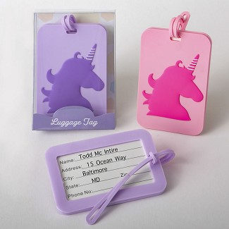 Unicorn Luggage Tags - 2 Assorted Designs