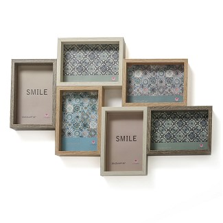 Wood Puzzle Collage Frame - 6 Openings