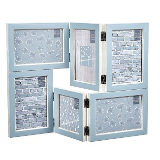 Blue Folding Collage Picture Frame