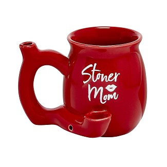 Red Stoner Mom Coffee Mug with White Logo