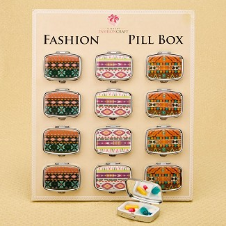 Stylish Aztec Pill Box