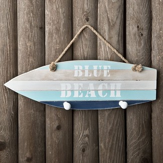 Boat Shaped Hanger with 2 Knobs