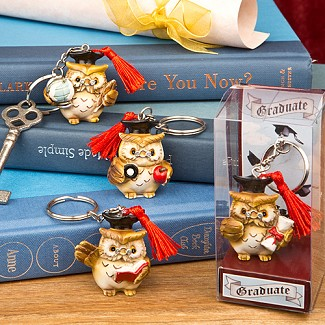 Wise Owl Graduation Key Chains