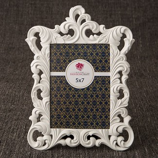 White Baroque 5 x 7 Frame
