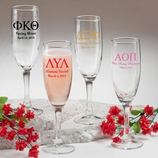 Personalized Champagne Flute (Greek Designs)
