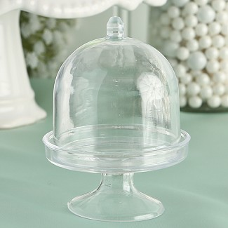 """Perfectly Plain Collection"" Mini Cake Stand / Plastic Box"