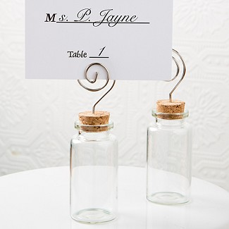 """Perfectly Plain"" Glass Jar with Place Card Holder"