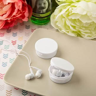 """Perfectly Plain Collection"" Ear Bud Headphones"
