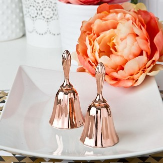 Rose Gold Metal Kissing Bell or Wedding Bell