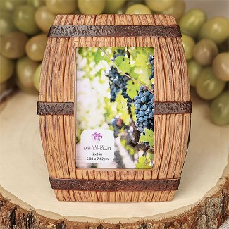 Wine Barrel Themed Place Card Frame / Picture Frame