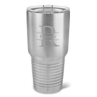 Monogrammed 30 oz. Stainless Steel Double Wall Insulated Tumbler