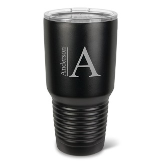 Monogrammed 30 oz. Black Matte Double Wall Insulated Tumbler