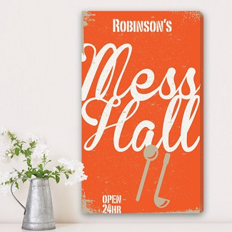 Personalized Family Mess Hall Canvas Print