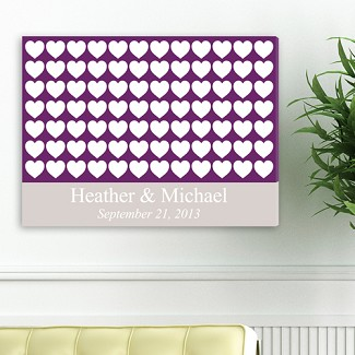 Personalized Heartful Wishes Signature Canvas
