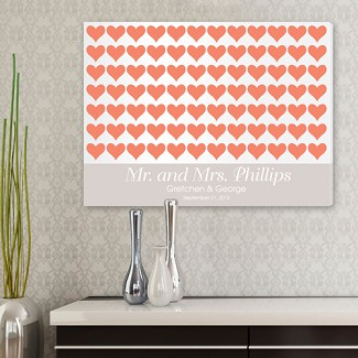 Personalized For the Love of Hearts Signature Canvas