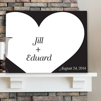 Personalized Shadow of Love Signature Canvas