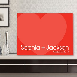 Personalized Love For Ever Signature Canvas