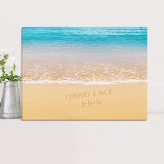 Personalized Caribbean Sea Canvas Print