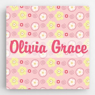 Personalized Pattern Kids Canvas Sign