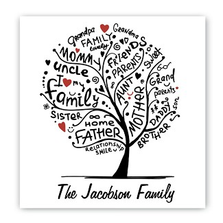 Personalized Family Roots Canvas Sign