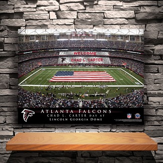 Personalized NFL Stadium Canvas Print