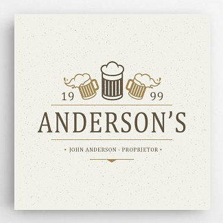 Personalized Beer Mugs Canvas Sign
