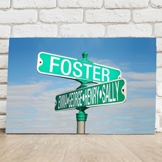 Personalized Street Sign Canvas
