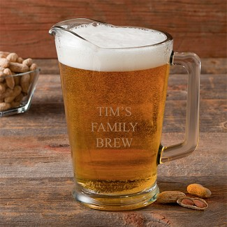 Personalized 60 oz. Glass Pitcher