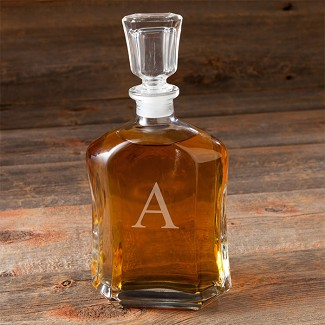 Personalized Initial Whiskey Decanter
