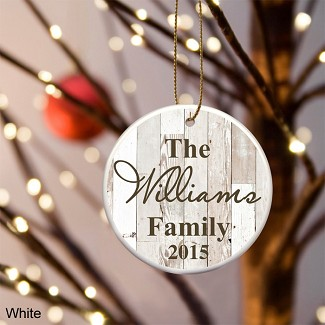 Personalized Family Name Ceramic Ornament