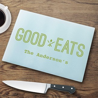 Personalized Glass Cutting Board - Good Eats