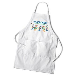 Personalized Dad's White Apron - Dad's Crew