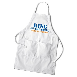 Personalized Men's Grilling White Apron - King