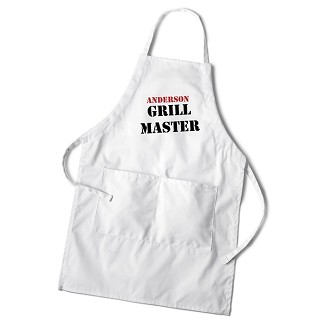 Personalized Men's Grilling White Apron - Master