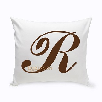 Personalized Calligraphy Monogram Throw Pillow