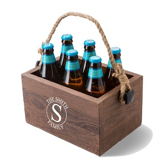 Monogrammed Beer Caddy